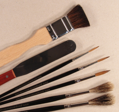 Advanced glass painting tools