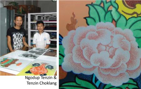 artists Ngodup Tenzin, Tenzin Choklang