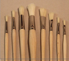 Set: 8 Hog hair stipplers