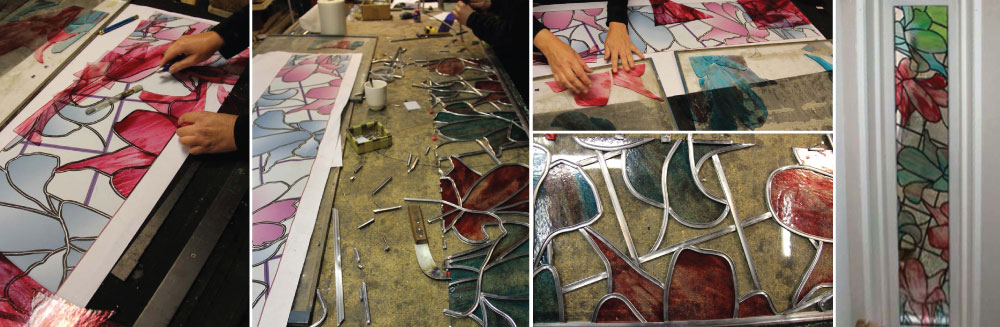 making a stained glass window